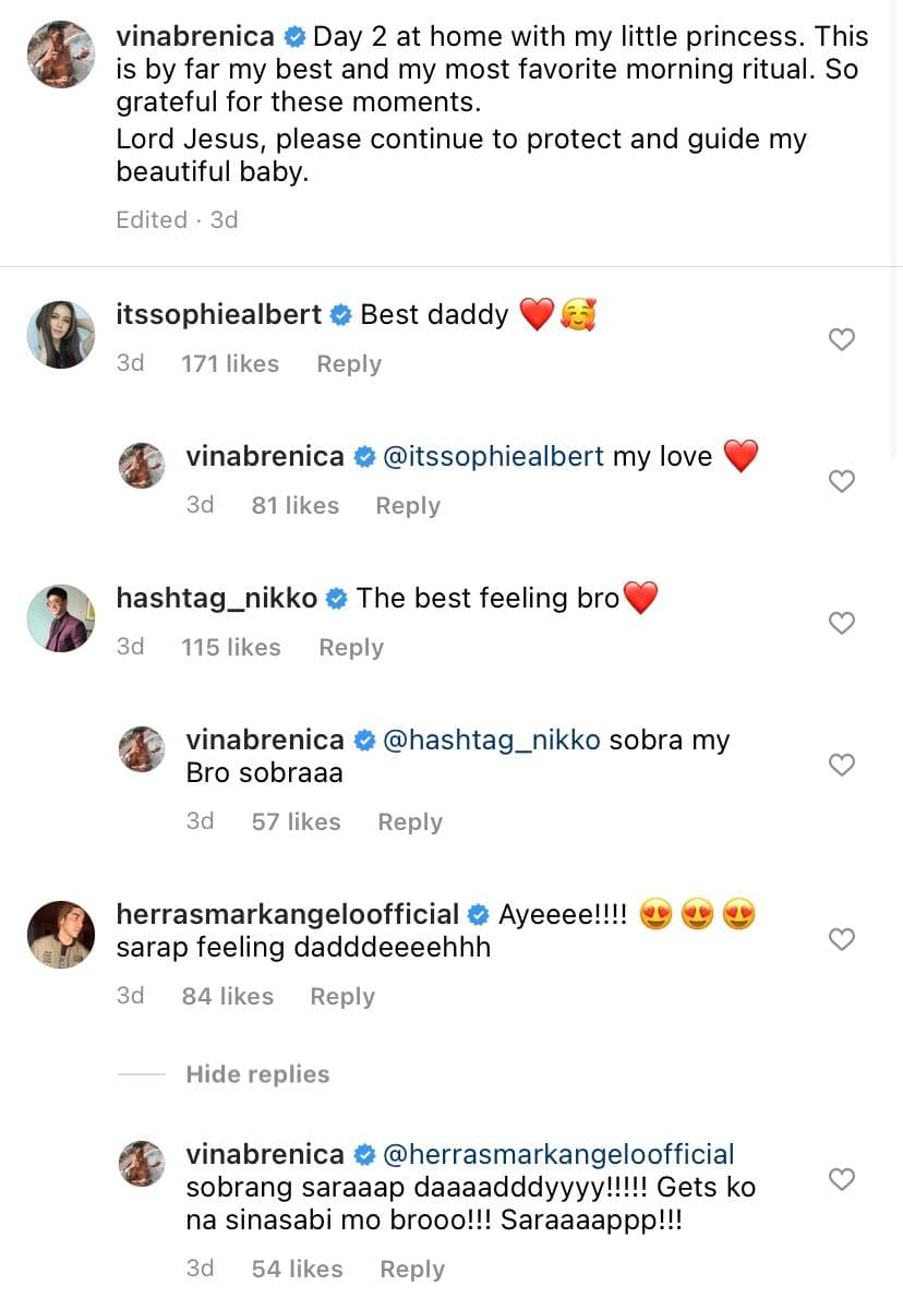 Vin Abrenica's Instagram caption on being a dad.