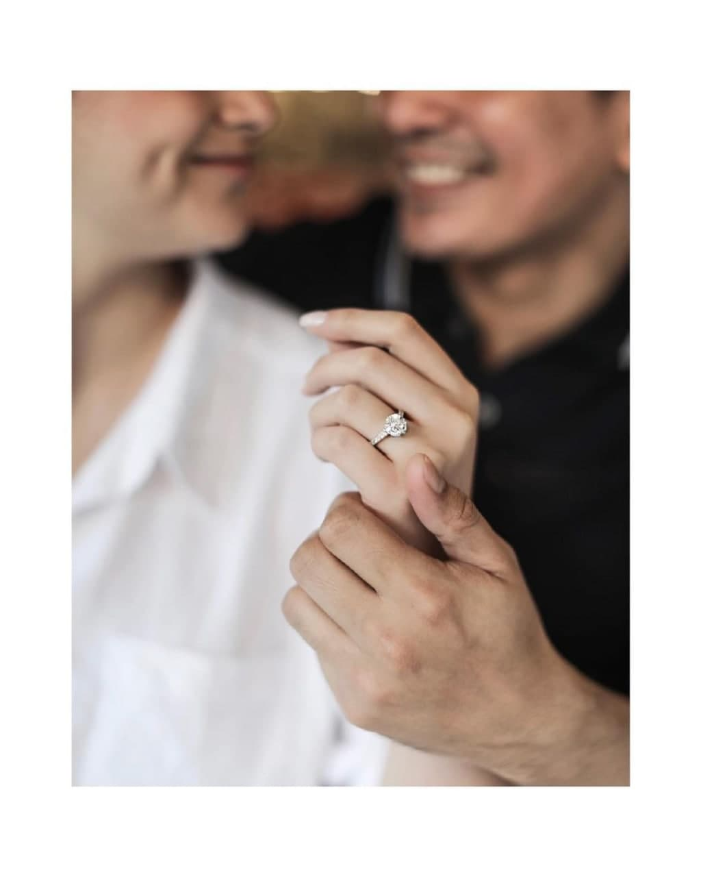Carla Abellana with Tom Rodriguez featuring her engagement ring