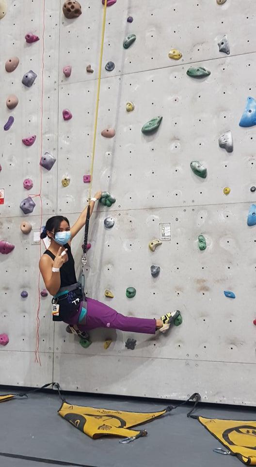 Coleen Oliva's wall-climbing experience