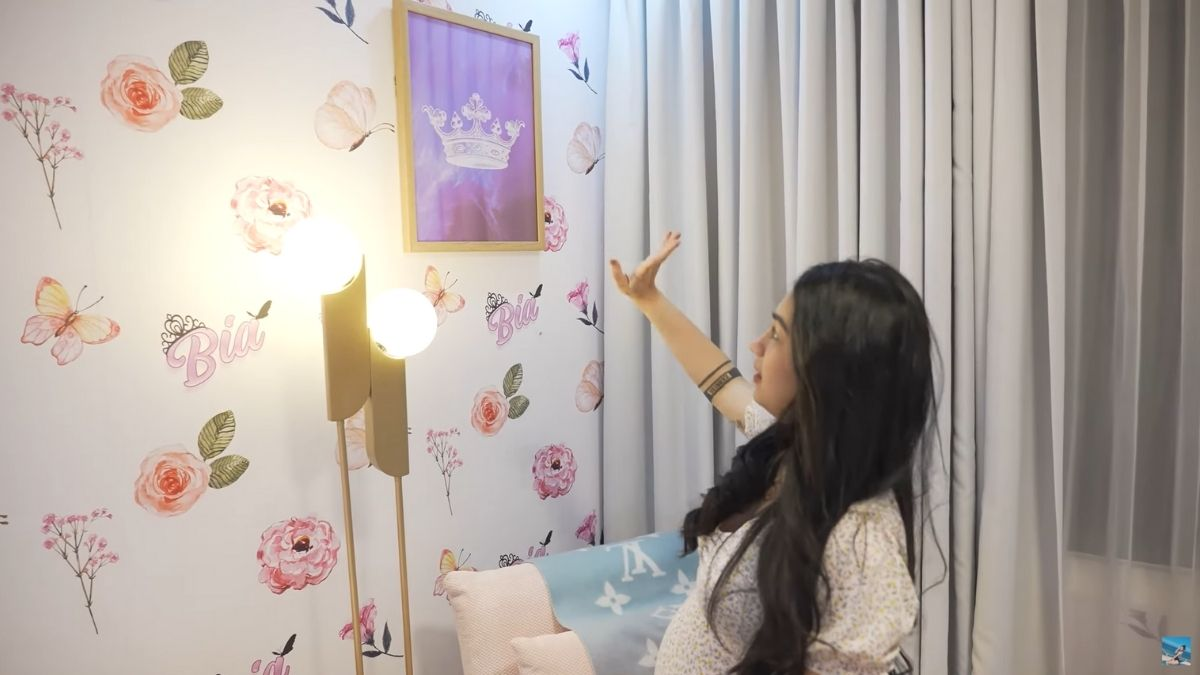 Zeinab Harake nursery room tour: crown artwork