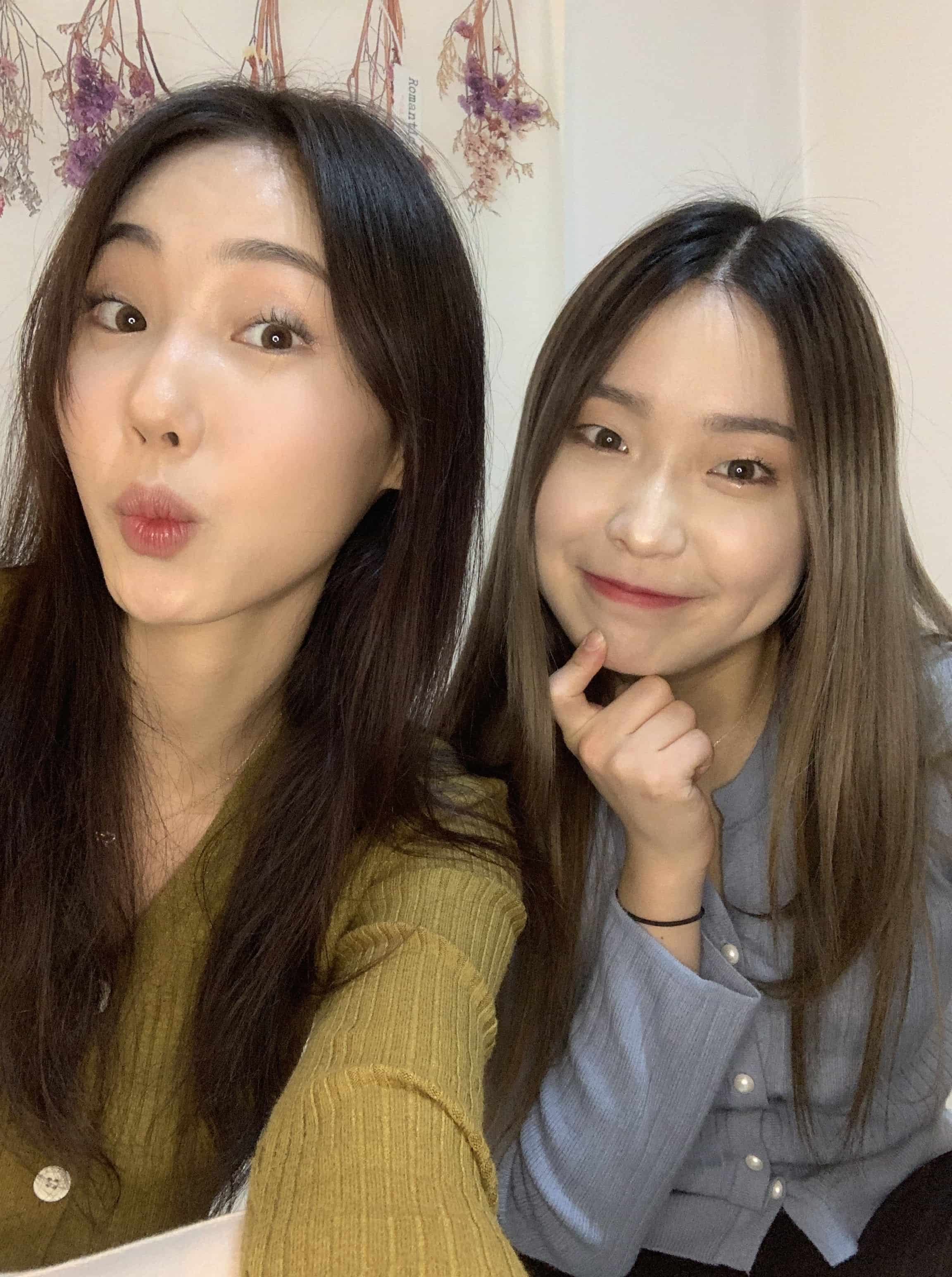 Sylvia Kim and Jessica Lee