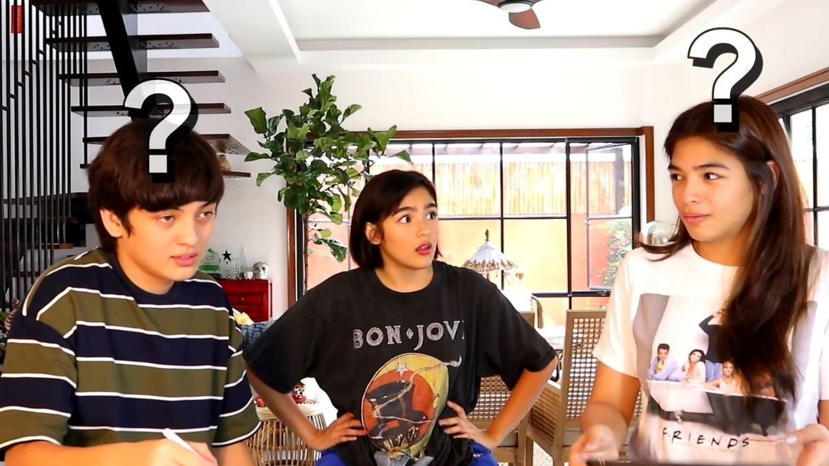 Andrea Brillantes plays Who Knows Me Better? with Seth Fedelin and older sister Kayla Gorostiza