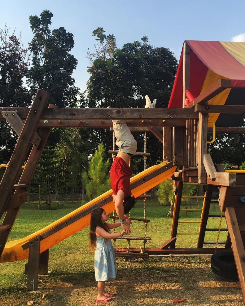 Little Ellie in the playground
