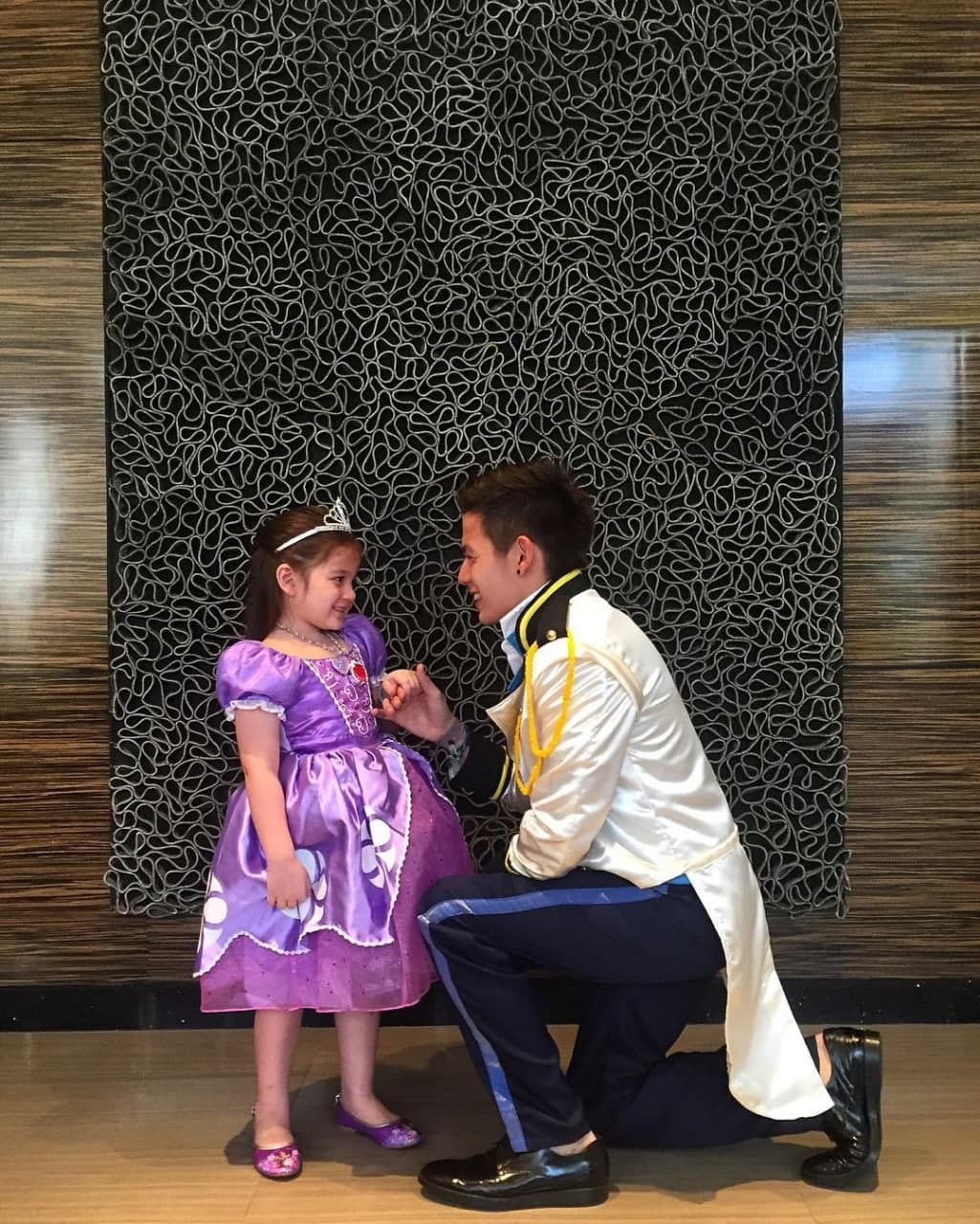 Ellie and her dad in costume