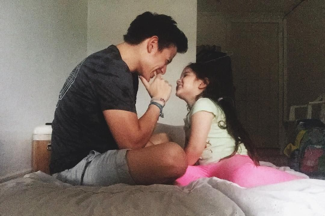 Ellie and her dad having a cute moment