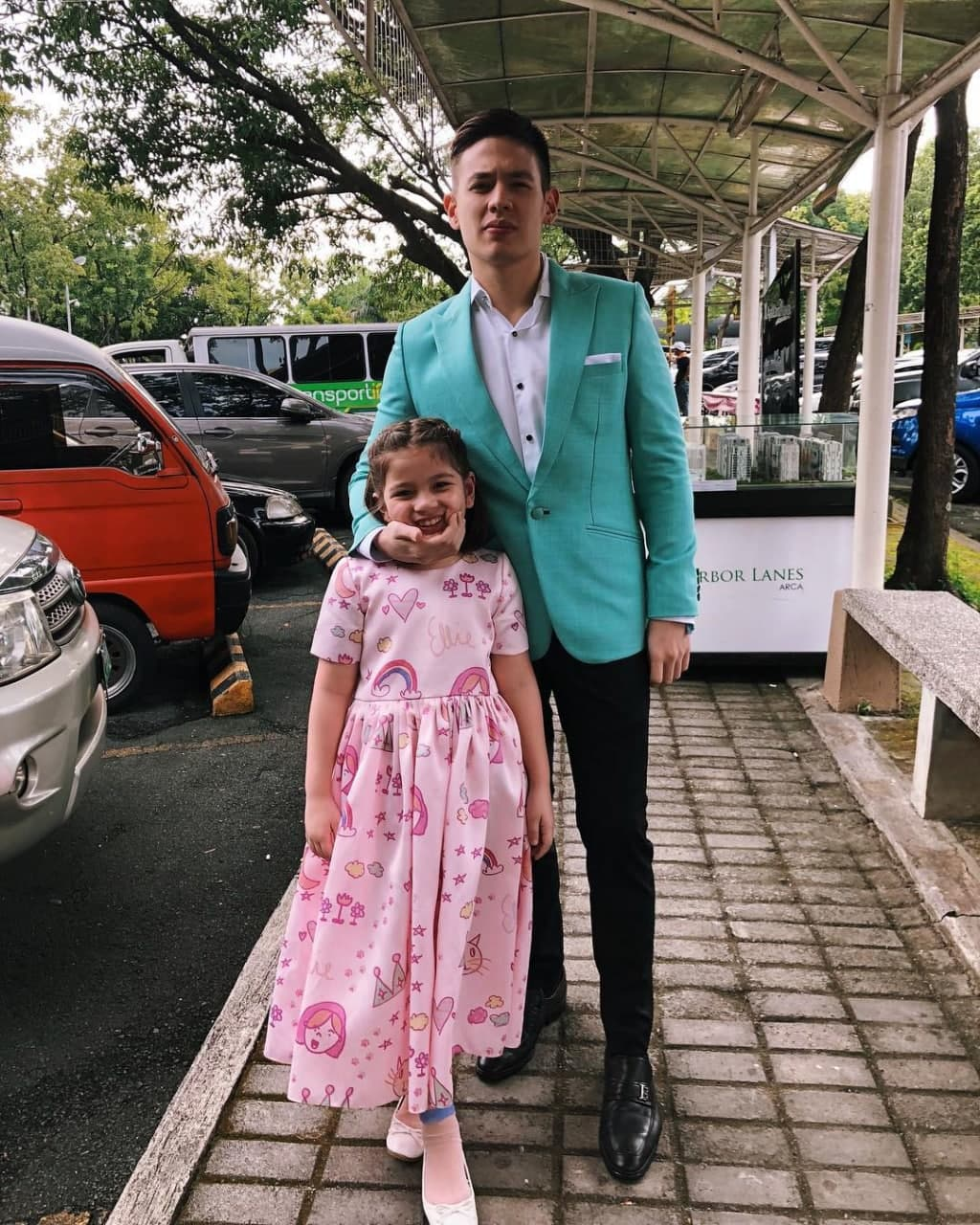 Dad and Ellie attending an event