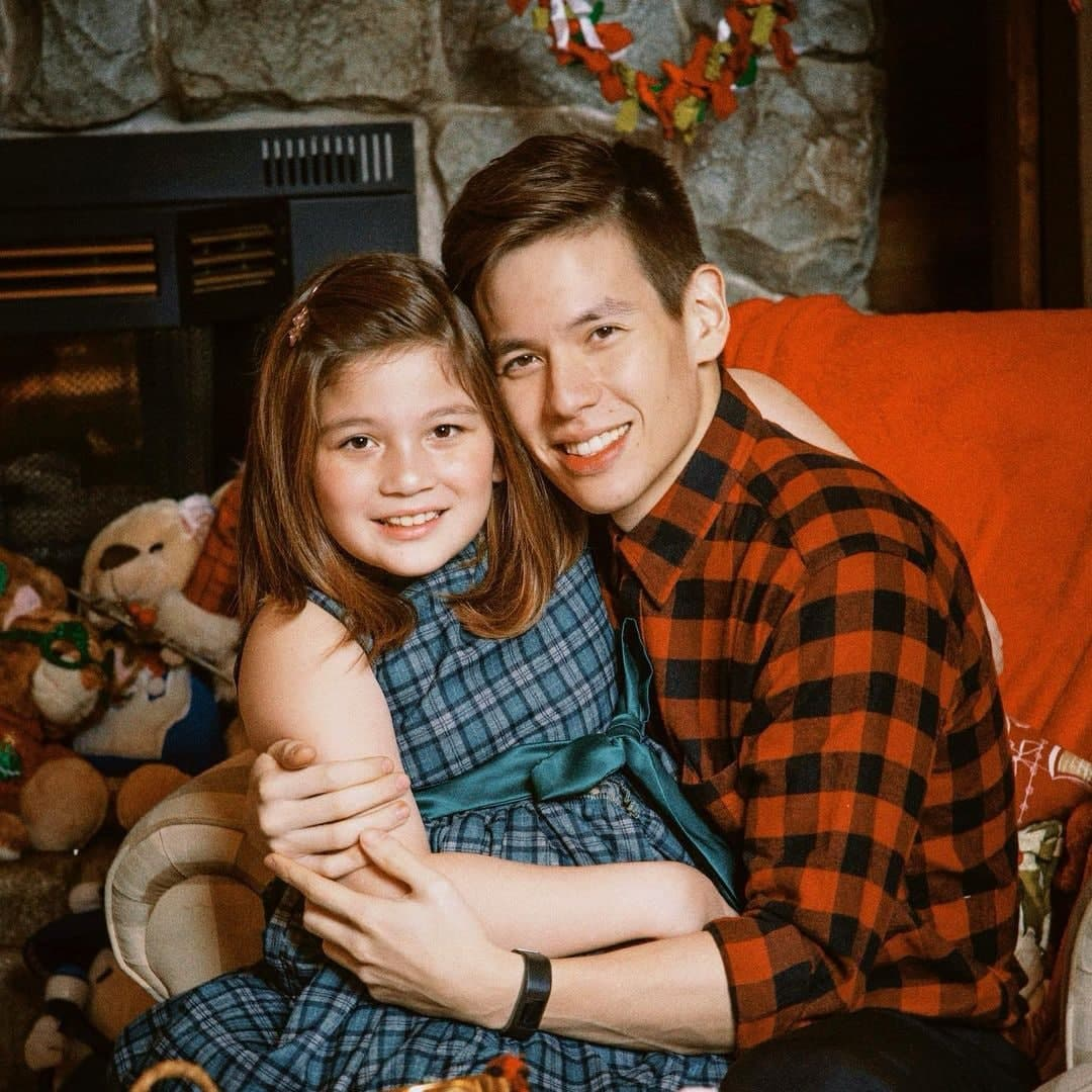 Jake and Ellie during the holidays