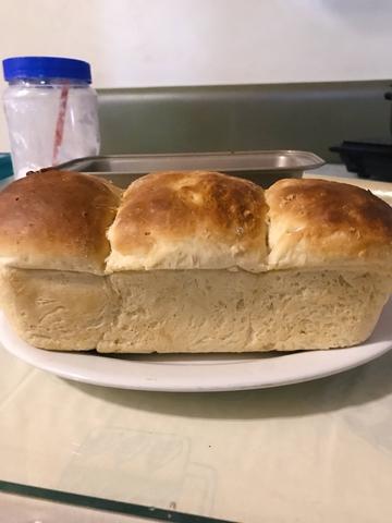 japanese milk bread first attempt