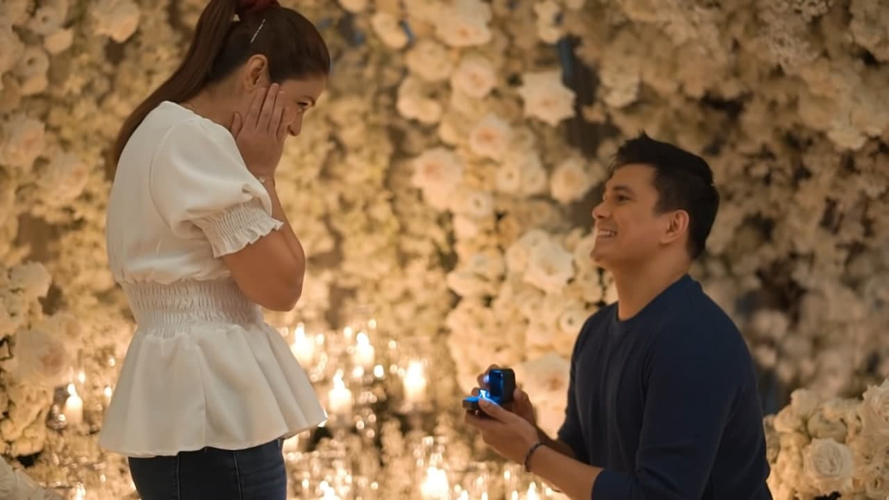Tom Rodriguez goes down on his knees with a ring to Carla