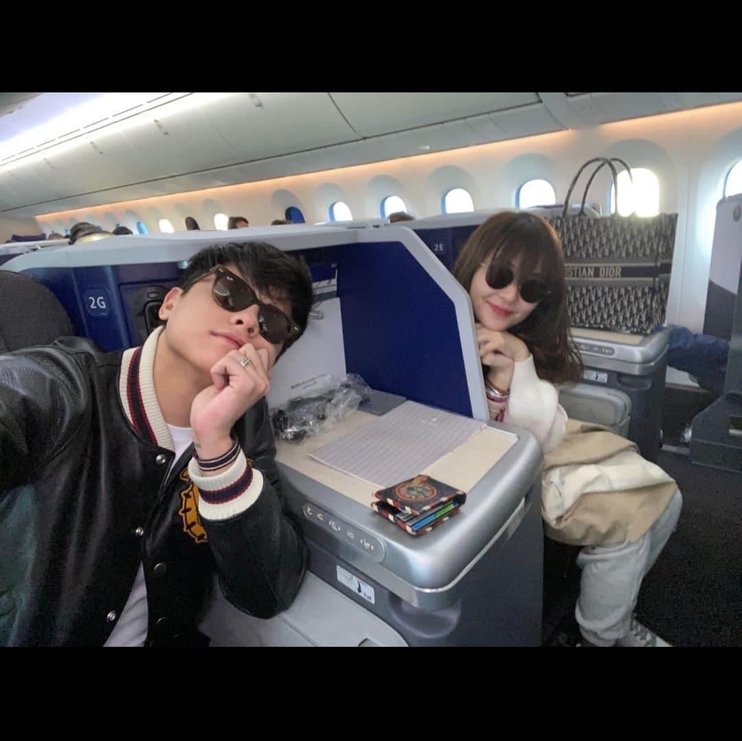 Kathryn Bernardo and Daniel Padilla in a flight