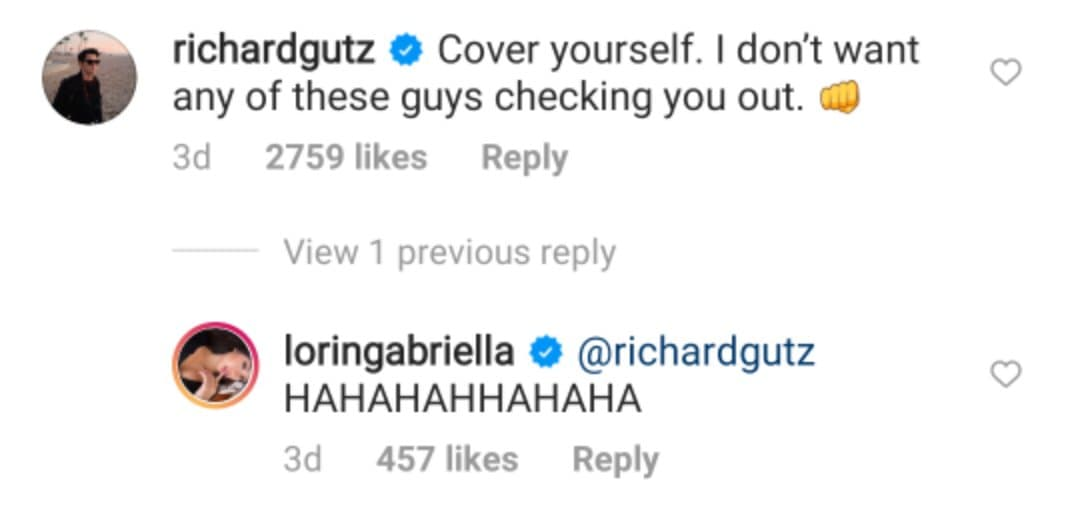 Richard Gutierrez replies to Lorin Bektas' IG post