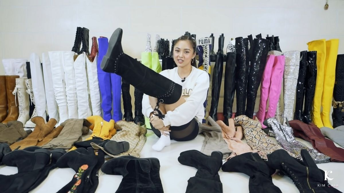 Kim Chiu's boots collection