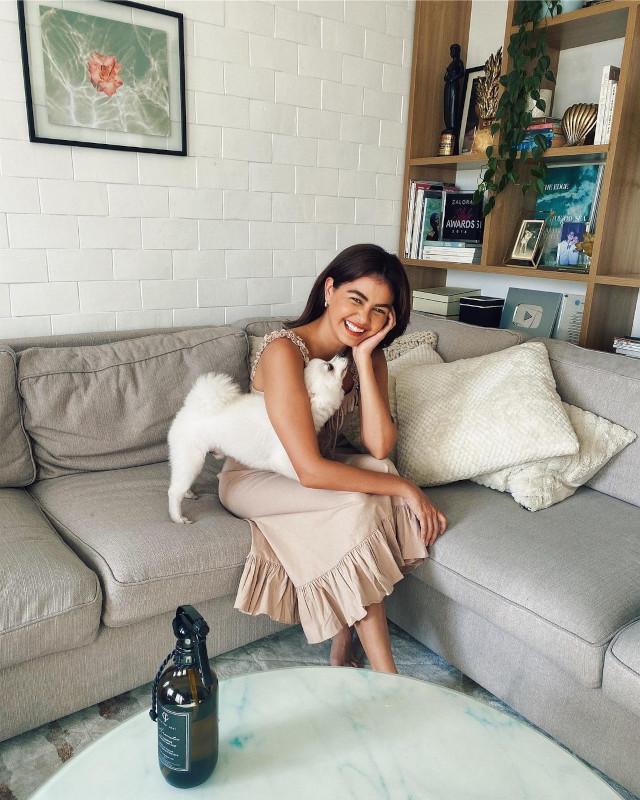 Janine Gutierrez with her dog, Ponche