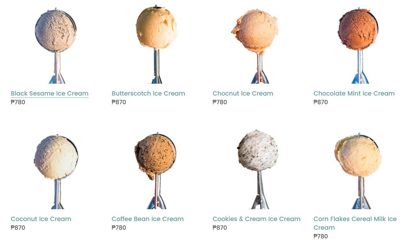 The Dairy Grind ice cream - base flavors