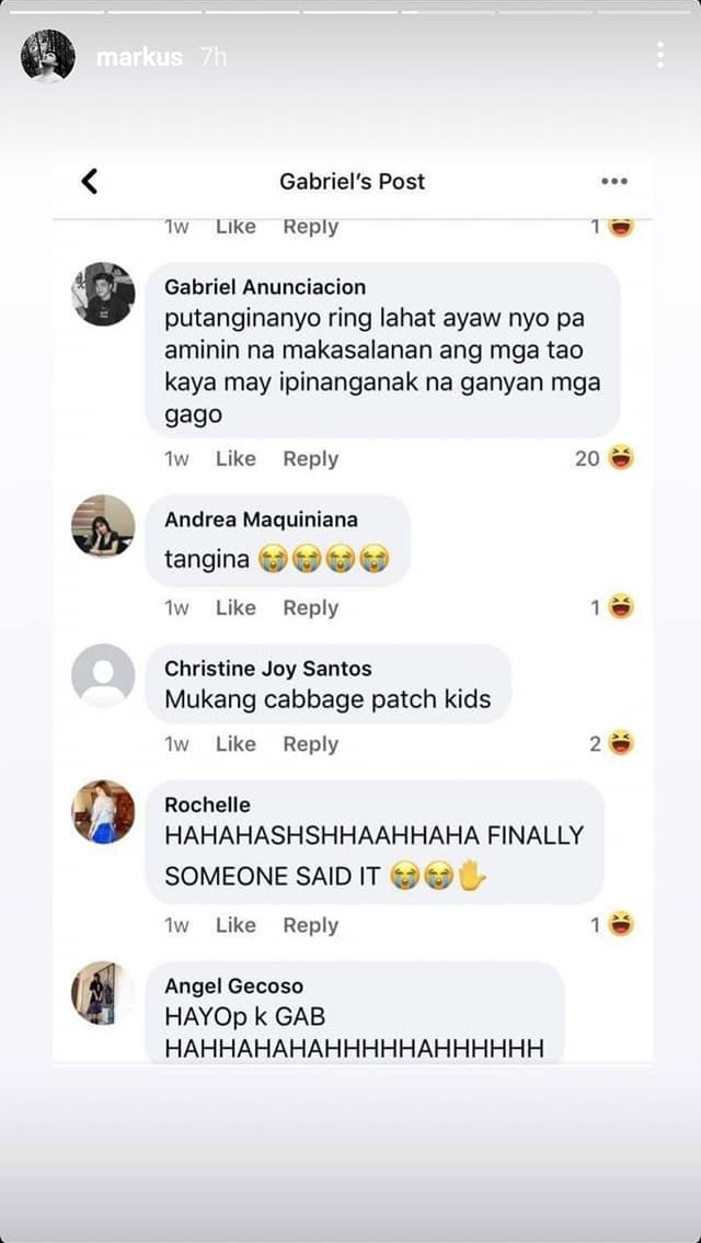 More negative comments in the basher's post