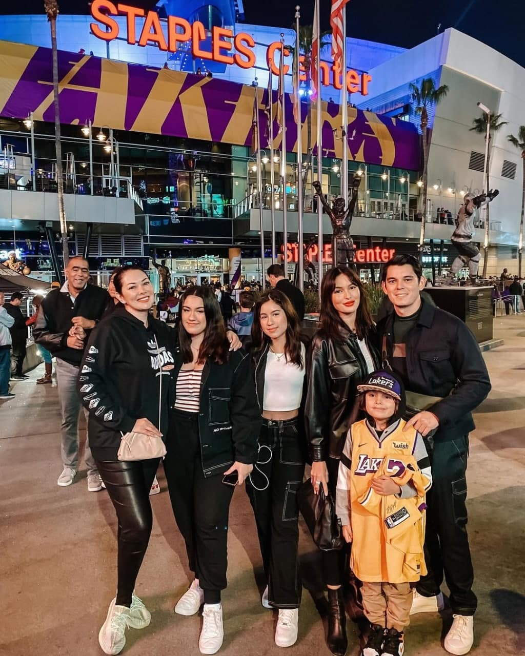 Ruffa and family at the Staples Center