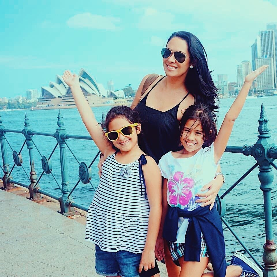 Ruffa with her daughters in Sydney