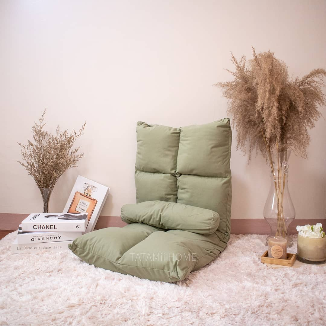 reclining chair from Tatamii Home in Matcha green