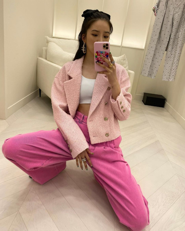 Pink Outfit Idea: Irene Kim