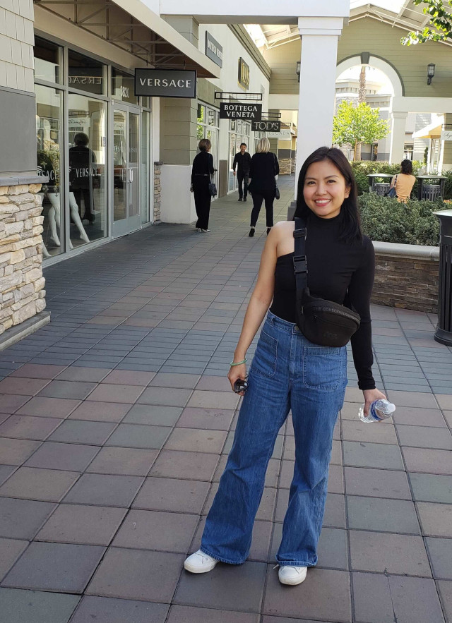 Petite Girl Fashion Essentials: Wide-leg flared jeans as worn