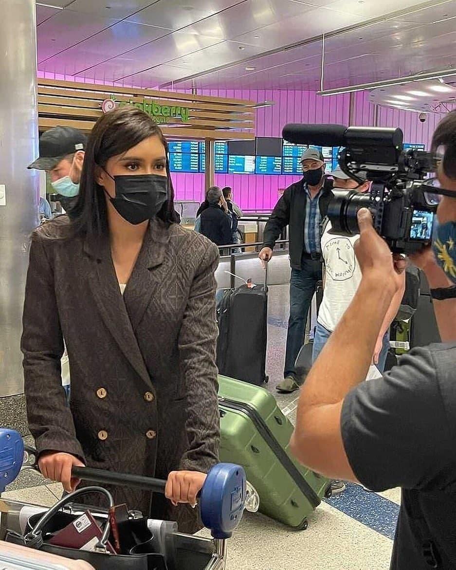Rabiya Mateo when she arrived at LAX in California