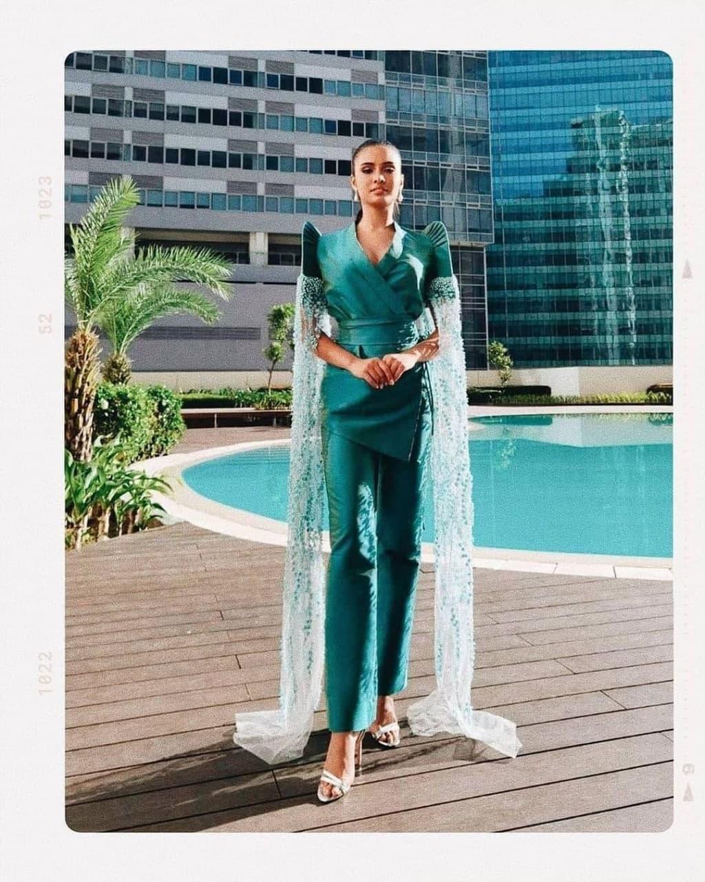 Rabiya Mateo wearing a terno suit by Marlon Tuazon