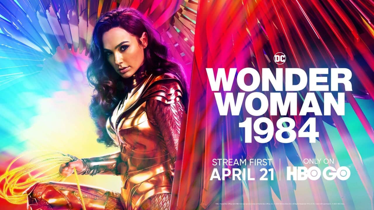 Gal Gadot featured on a promotional poster of Wonder Woman 1984