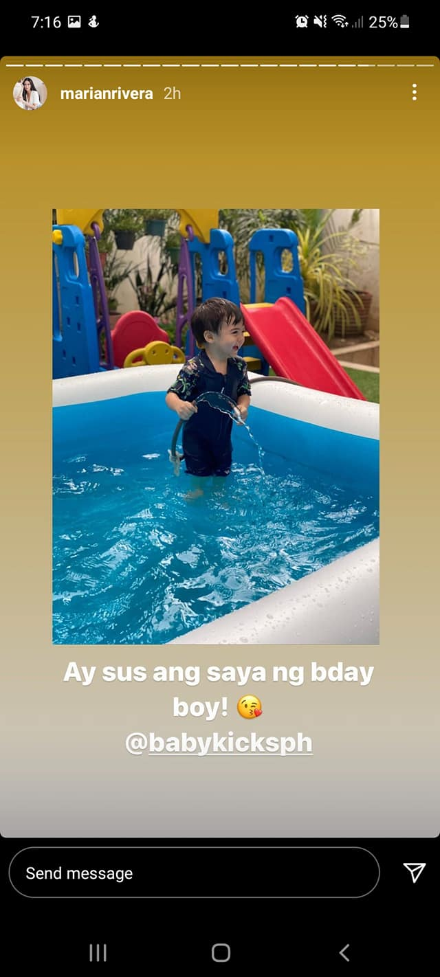 Jose Sixto IV featured in Marian Rivera's IG Stories