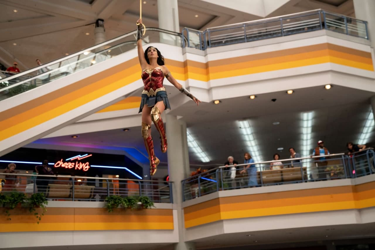 Gal Gadot in costume from Wonder Woman 1984