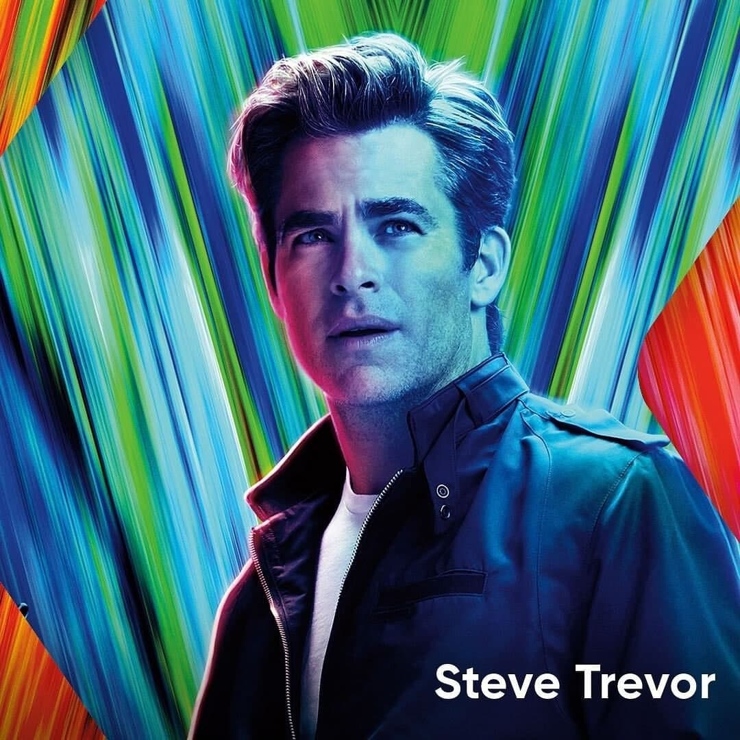 Chris Pine featured on a promotional poster of Wonder Woman 1984