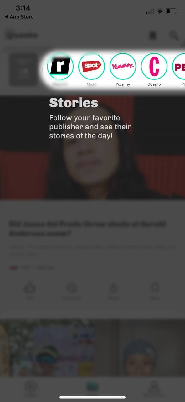 quento app - daily stories