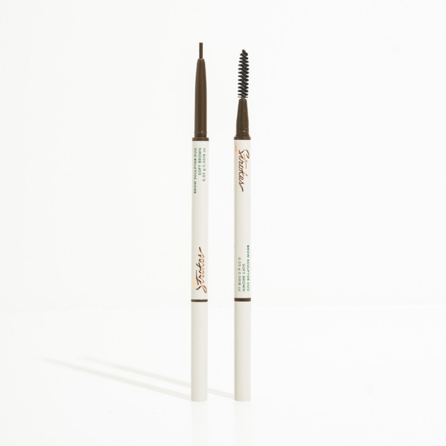 Strokes Brow Sculptor Duo in Soft Brown Microfine Brow Pencil & Styler