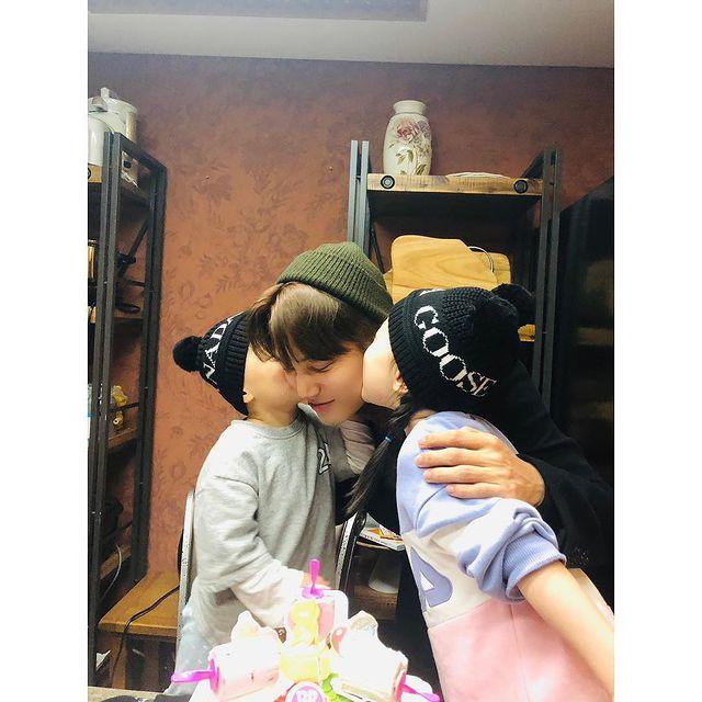 EXO Kai's nephew and niece