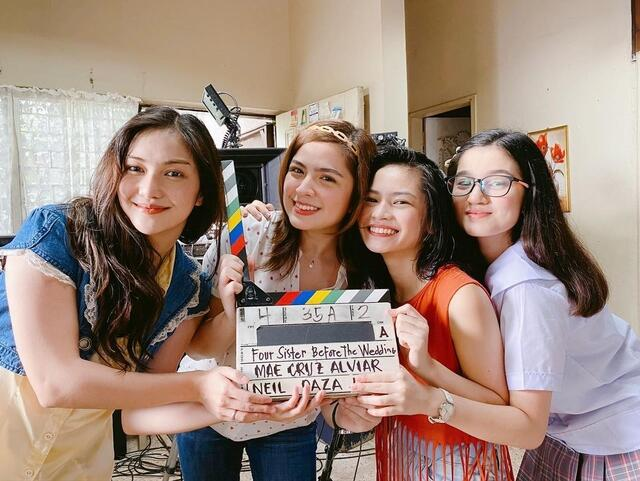 four sisters before the wedding BTS