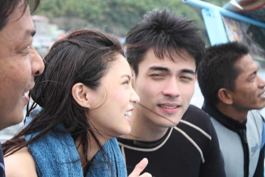 Xian Lim and Kim Chiu from a 2012 island hopping tour