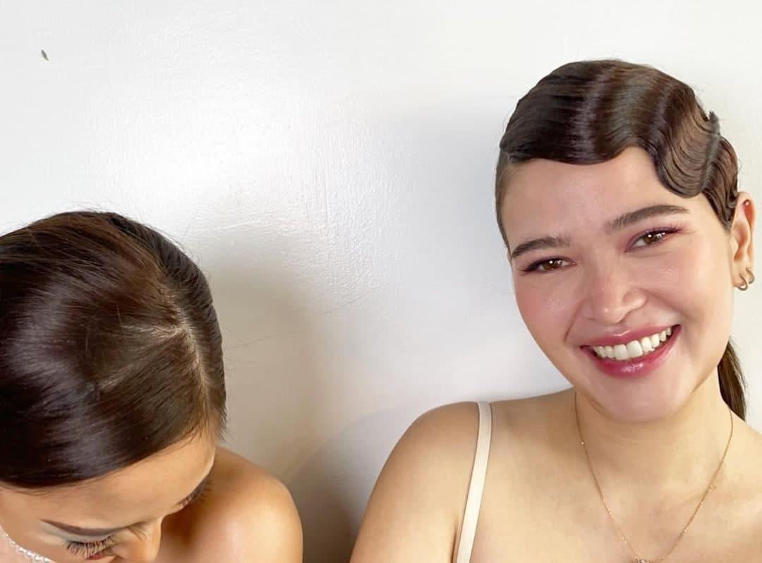 A candid photo of Kim Chiu and Bella Padilla