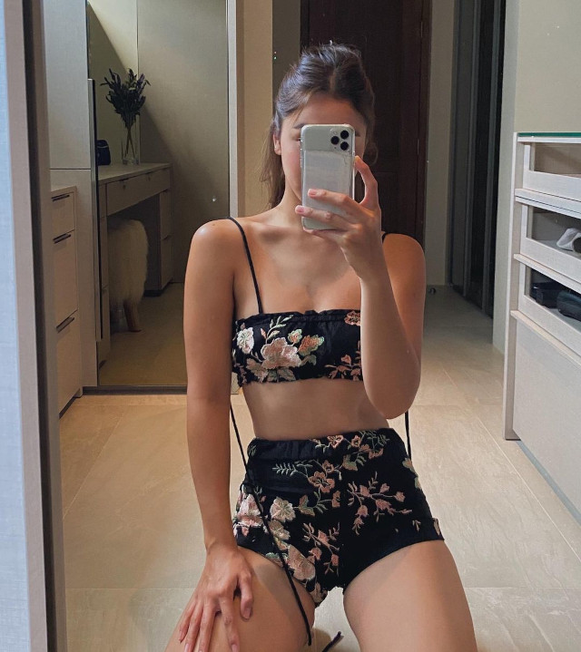 Summer outfit: Julia Barretto wearing a bralette set