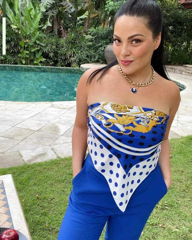 Summer outfit: KC Concepcion wearing a scarf top