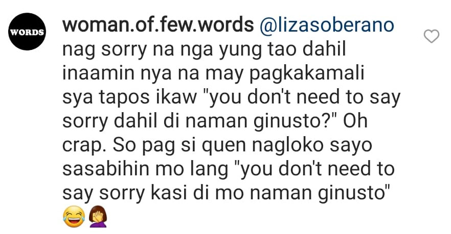 Netizens replying and reacting to Liza Soberano's comment