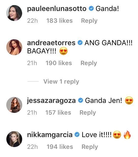 Jessa Zaragoza and Nikka Garcia reacting to Jennylyn Mercado's new hairdo