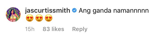 Jasmine Curtis-Smith also commented on Jennelyn's new hairdo on IG
