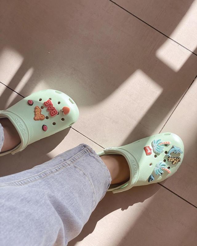 Crocs on Sofia Andres