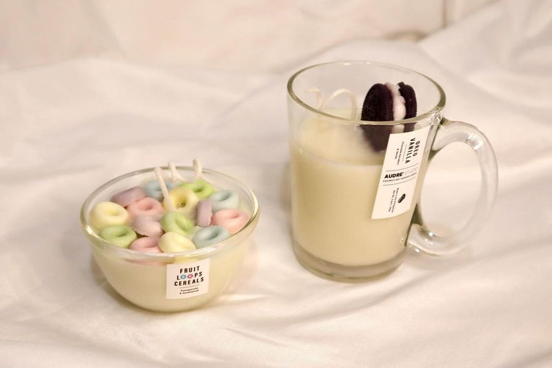 Fruit Loops Cereals and Oreo Vanilla scented candles