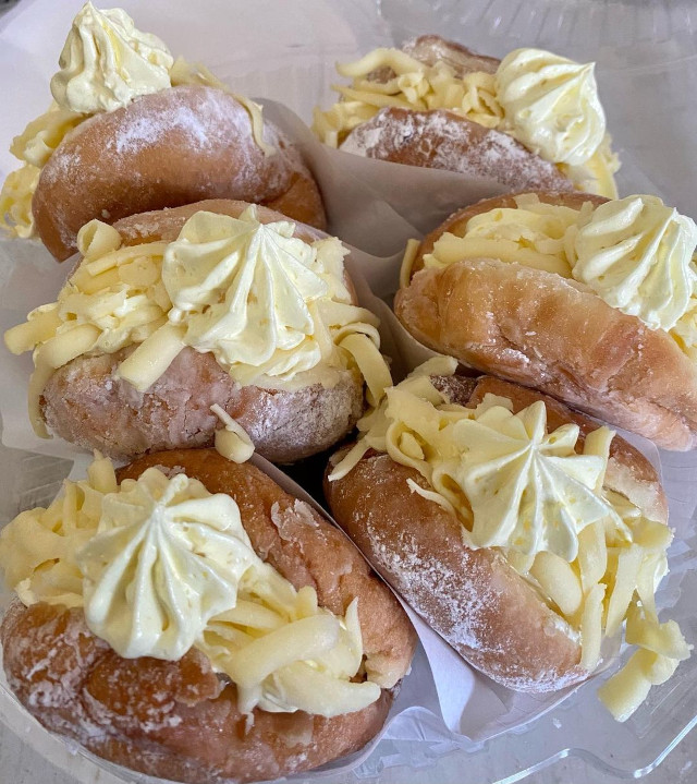 Bunappetite Cafe and Bakeshop Triple Cheese Donut Pockets