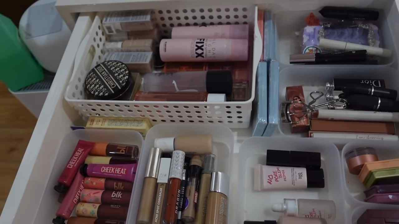 Rei Germar's collection of makeup products