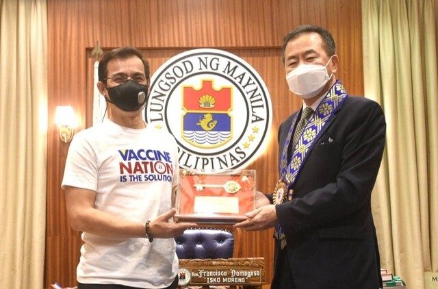 Mayor Isko Moreno and Ambassador to the Philippines Han Dong Man