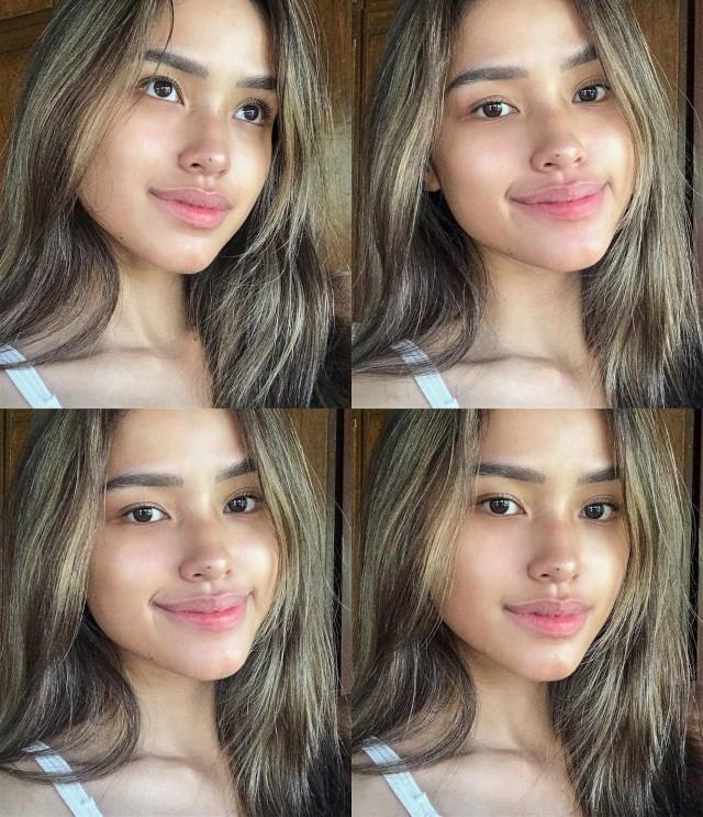 Jamina Cruz's hairstyle with highlights