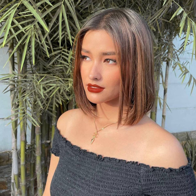 Liza Soberano's hairstyle with highlights