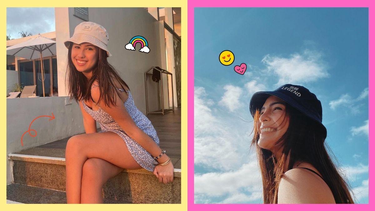 Lorin Gutierrez and Lovi Poe wearing bucket hats