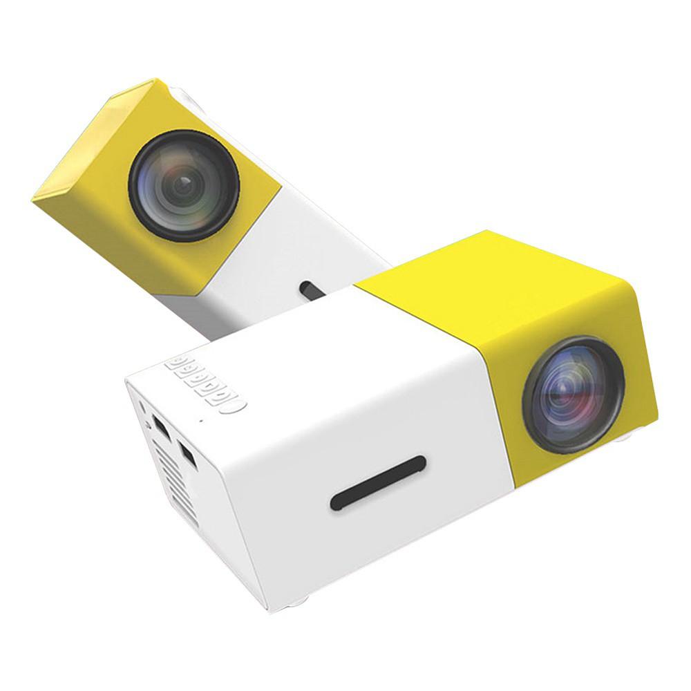 ODSCN YG-300 600 Lumens Mini Portable Projector in yellow